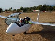 das kuehle Landebier noch im Flugzeug