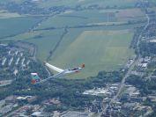 im Anflug zur Landung in Zwickau