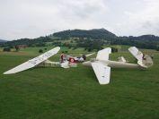 4 der 5 anwesenden Flugzeuge