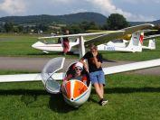 Startbereit zu einem Übungsflug auf dem Einsitzer